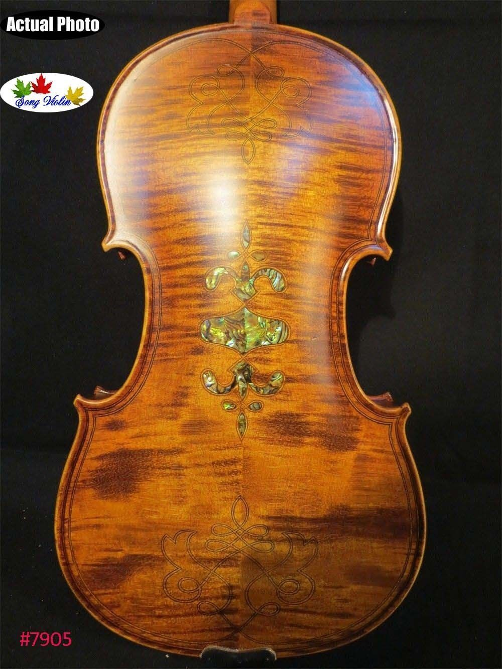 Strad style SONG maestro inlay 4 4 violin,huge and resonant sound