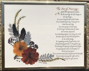The-Art-Of-Marriage-Poem-Sign-Pressed-Flowers-8-X-10
