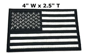 AMERICAN-FLAG-EMBROIDERED-PATCH-iron-on-GOLD-BORDER-USA-US-United-States-QUALITY