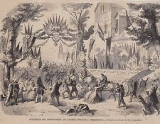 1859  --  RECEPTION DES PONTONNIERS DE L ARMEE DE L ITALIE A STRASBOURG  3B390