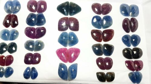 Details about  /Gorgeous Top Quality Natural Multi Sapphire Matched Earring Pairs For Jewelry