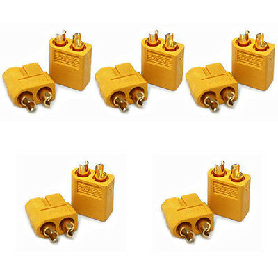 5 Pairs of XT60 XT-60 Male Female Bullet Connectors Plugs for RC Lipo Battery
