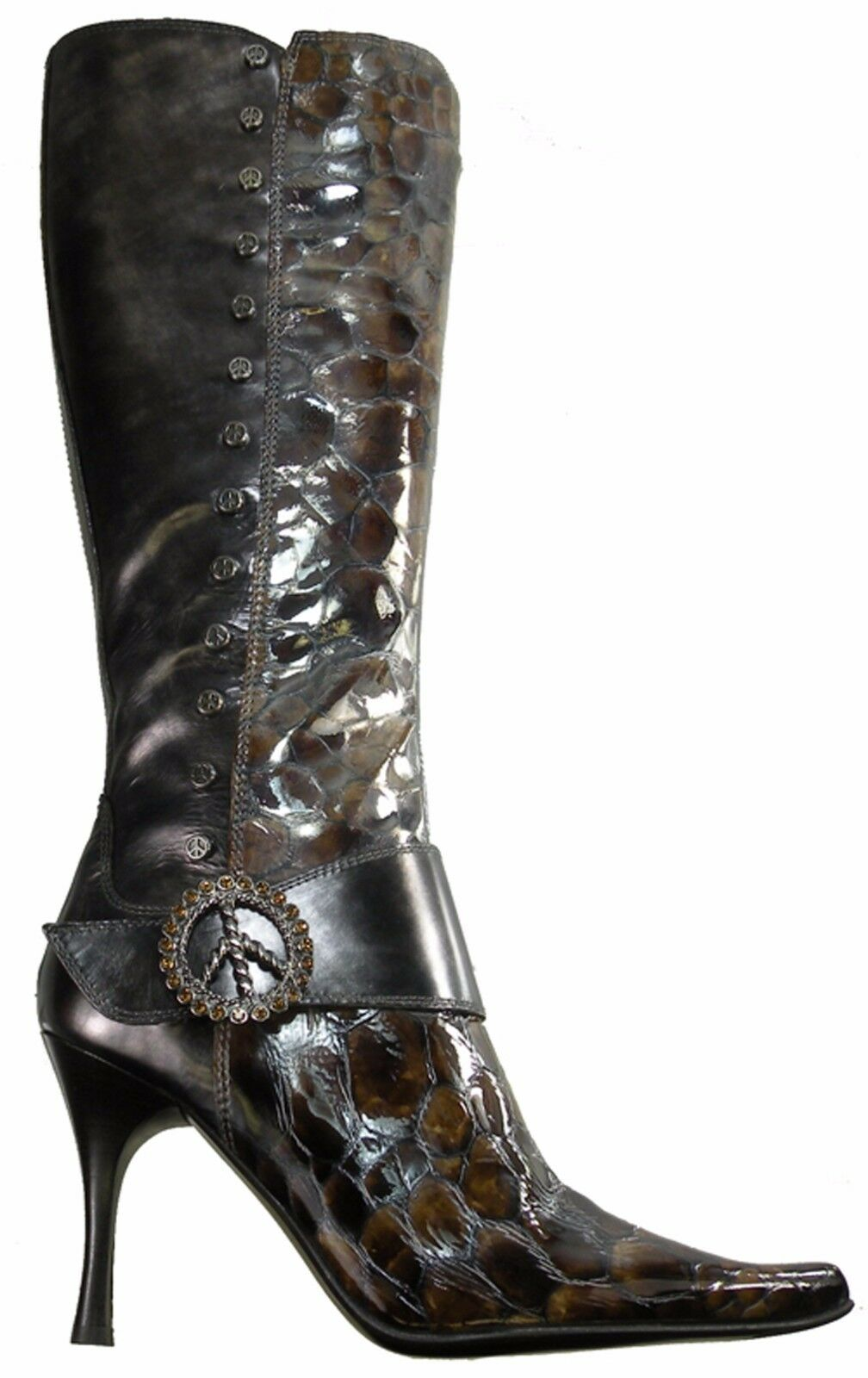 New  525. Donald J Pliner VIDA - 2974 Donna Boot size   6 M Tan / Lead. Italy