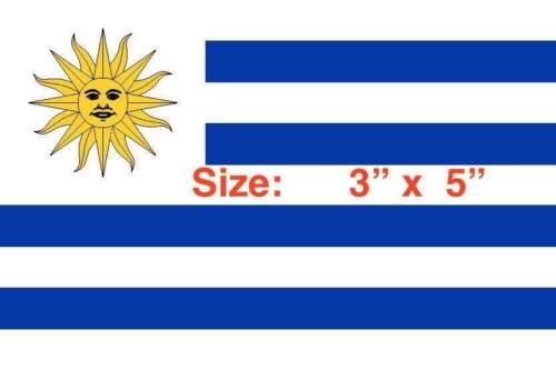 URUGUAY FLAG 3 X 5 INCHES URUGUAY FLAG STICKER DECAL BANDERA DE URUGUAY