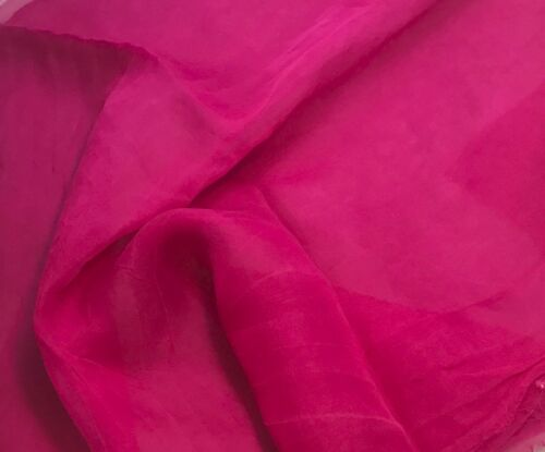 "Silk ORGANZA Fabric Hand Dyed ORCHID PINK 45"" By The Yard"