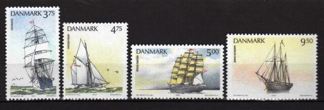Dinamarca ( Denmark )  :1993 Ships ( complete set ) MNH