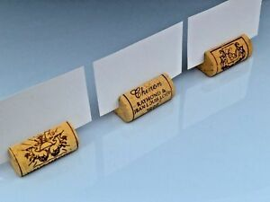 Wine Cork Place Card Holders Used For Weddings Parties And Any