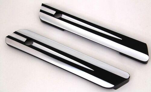 Harley Street Glide saddlebag latch cover//Face Plates Black contrast deep cut