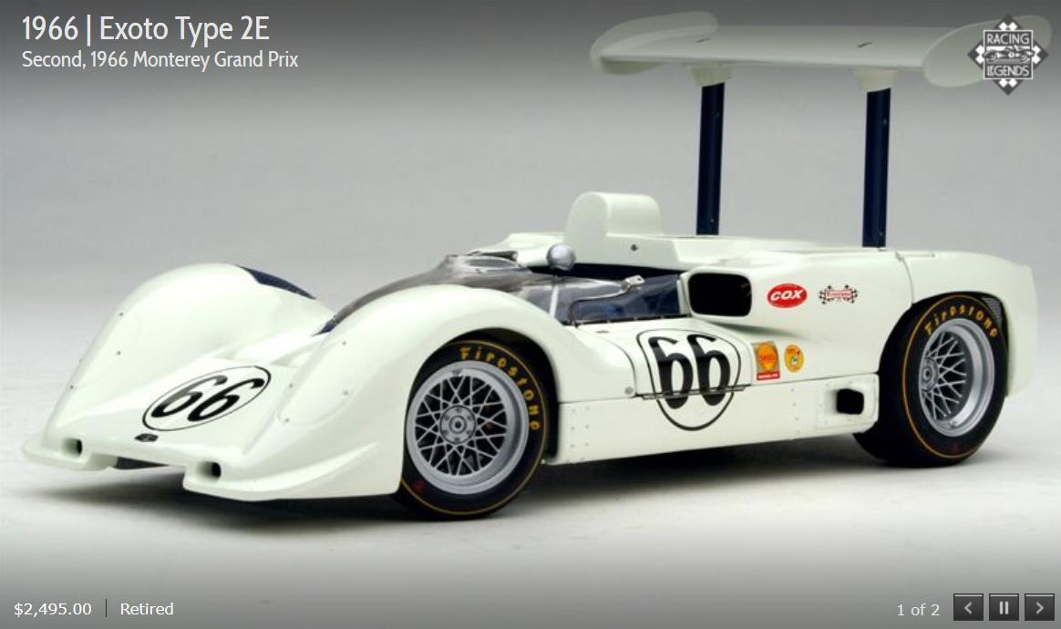 Exoto Chaparral 66 tipo 2E Monterey Grand Prix 1:18 retirado Nuevo en Caja RLG18163