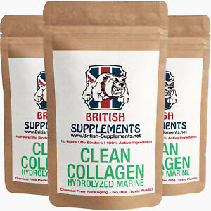 Clean Premium Hydrolysed Collagen Marine Type 1 Fish Skin ...