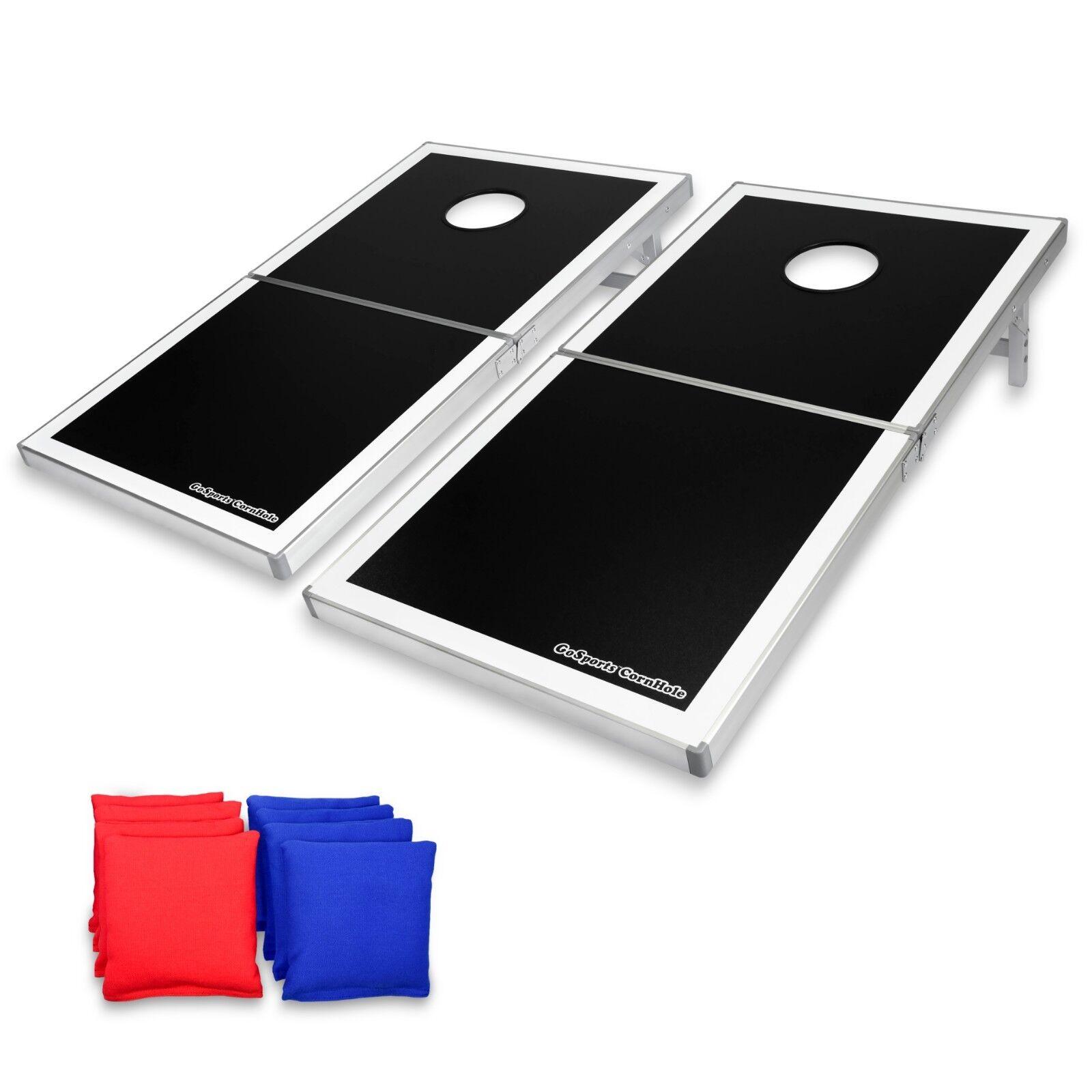 GoSports Regulation Size Cornhole Bean Bag Toss Game Portable Aluminum Frame