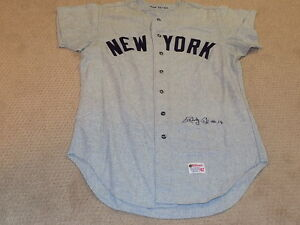 7ccb64b2590 Bobby Cox Game Worn Signed Flannel Jersey 1970 New York Yankees HOF ...