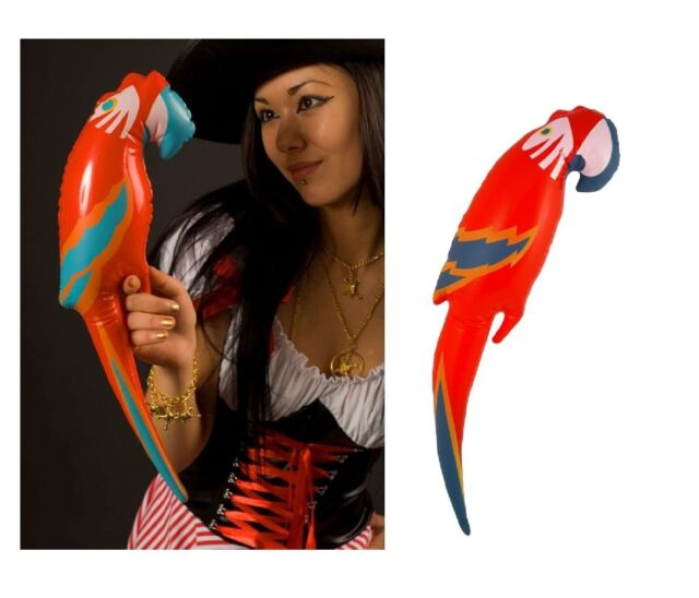 INFLATABLE 48CM PARROT FANCY DRESS PIRATE ACCESSORY