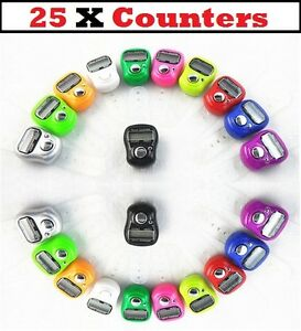 25 x anneau de doigt numérique compteur enregistreur ligne compteur tasbeeh job lot En Gros  </span>