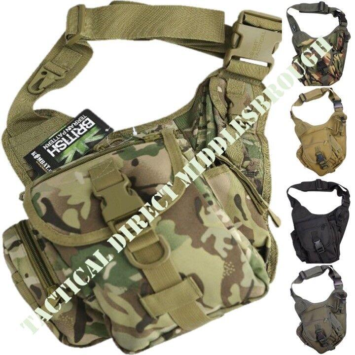 TACTICAL 7L SHOULDER BAG ARMY BTP MTP DPM CAMO MENS TRAVEL DOCS MONEY HOLDER