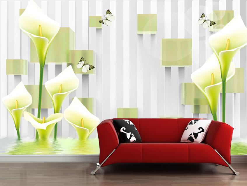 3D Flowers 657 Wallpaper Murals Wall Print Wallpaper Mural AJ WALL AU Lemon