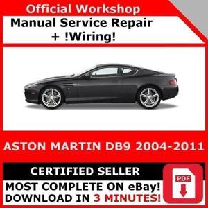 Factory Workshop Service Repair Manual Aston Martin Db 9 2004 2011 Wiring Ebay