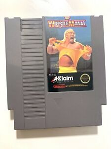 WWF-Wrestlemania-Nintendo-NES-Game-Authentic-Tested-Working-amp-Authentic
