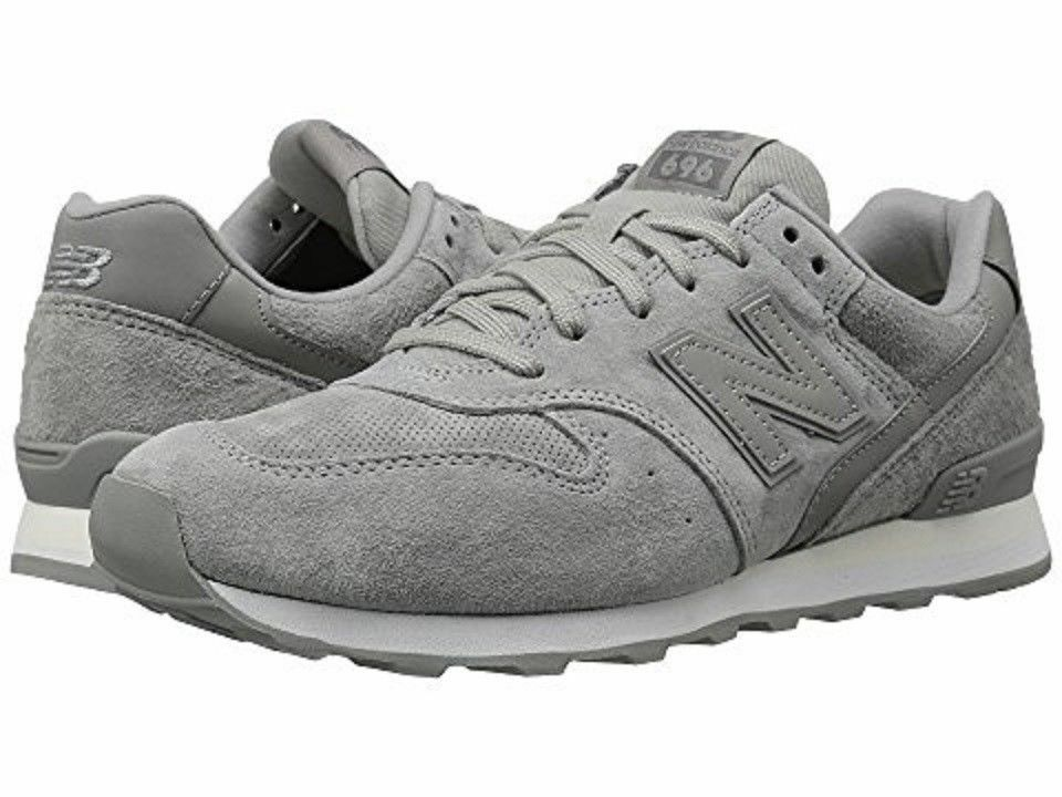 NEW BALANCE WL696WPG  Wmn's (M) Grey White Suede Mesh Lifestyle shoes Sz 8.5