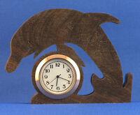 Dolphin Mini Clock - Hand Cut W/ Choice Of Insert