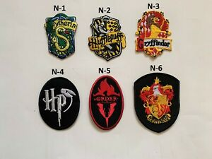 Harry Potter House Gryffindor Slytherin Hufflepuff Iron sew on Patch Jeans Shirt