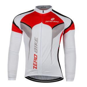 Mens Cycling Jerseys Clothing MTB Bicycle Sports Wear Long Sleeve Bike Shirt Top