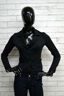 Liberale Giacca Ilary Donna Taglia Size S Maglia Coat Jacket Blazer Slim Fit Nero Cotone Comodo E Facile Da Indossare