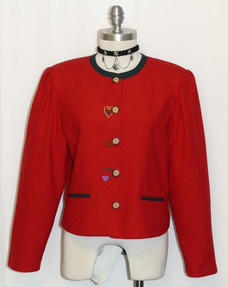 Rojo  alemán para Mujeres corto elegante  & Elegante Vestido Falda Pantalones Traje chaqueta 38 8 S  muy popular