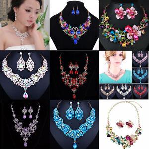 Women-Fashion-Bib-Choker-Chunk-Crystal-Statement-Necklace-Party-Wedding-Jewelry