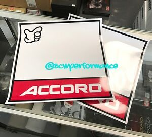 JDM HONDA ACCORD JAPAN KANJO STICKERS DOOR DECALS RACING NUMBER - Honda accord decals stickers