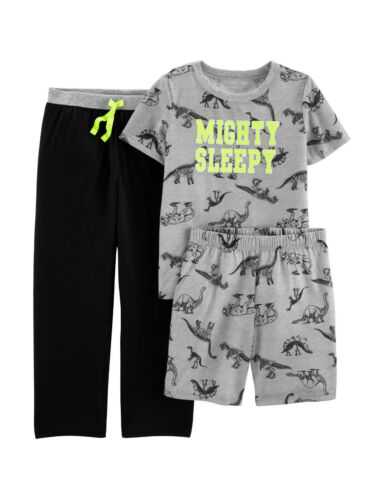 New Carter/'s 3-Piece Mighty Sleepy Dinosaur Pajama Set Boys 6 7 8 10