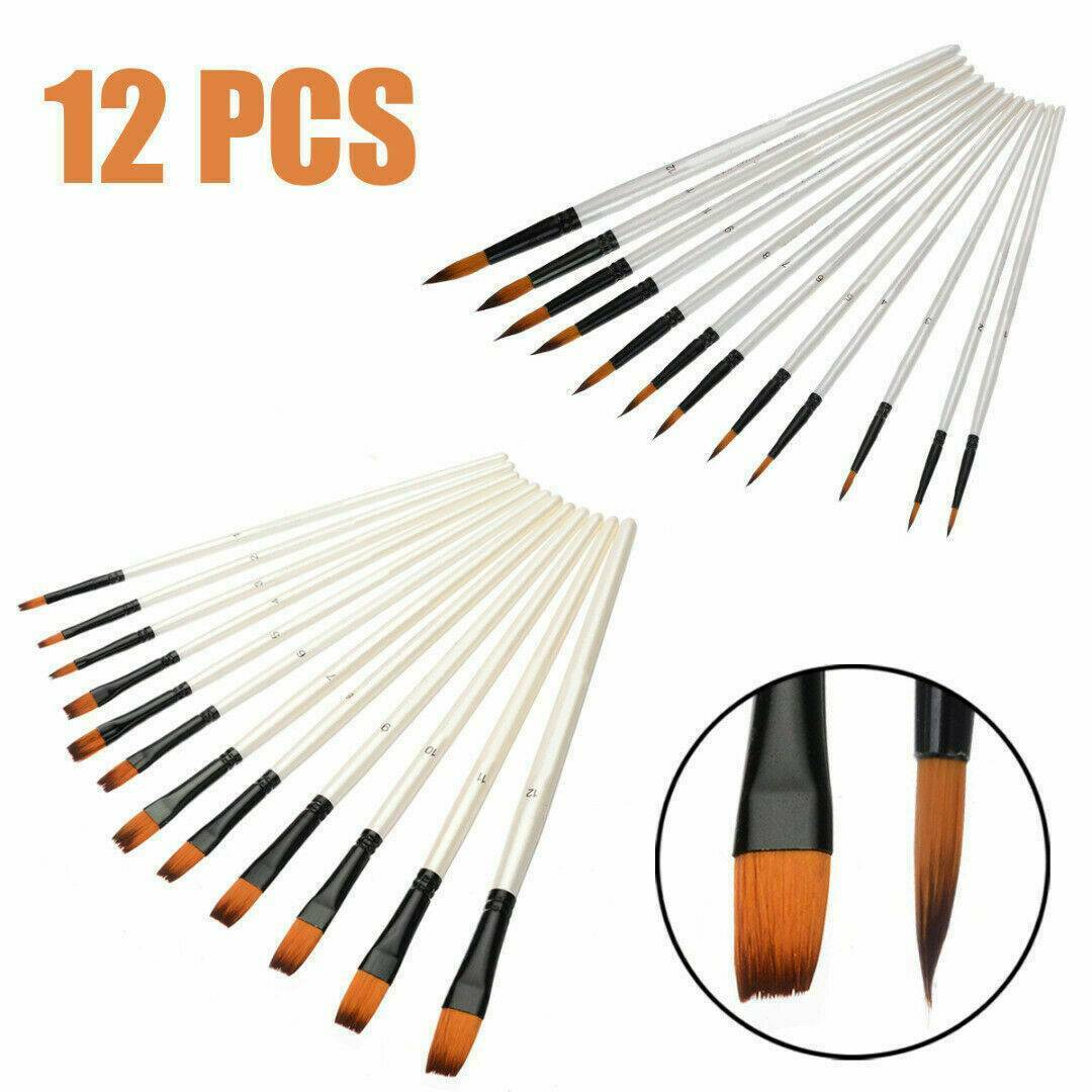 HWAHONG Artist Oil Acrylic Paint Brush Filbert Flat Brush 827 1Set 7ea Brushes