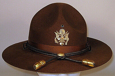 62a29697dc9 US Army Officer Campaign Hat Cap Rare and Unusual 7 1 8 or 57