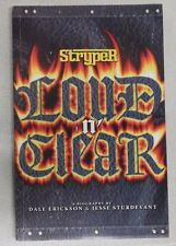 Stryper LOUD N' CLEAR Biography - Book
