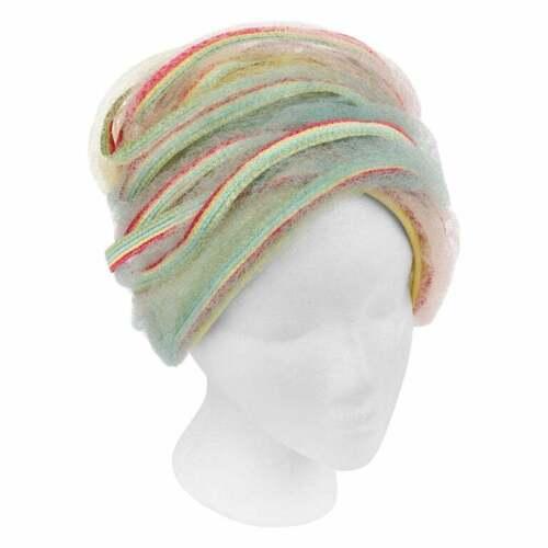 CHRISTIAN DIOR c.1960s Pastel Rainbow Woven Straw