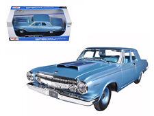 Maisto 1/18 Scale 1963 Dodge 330 Blue Diecast Car Model 31652