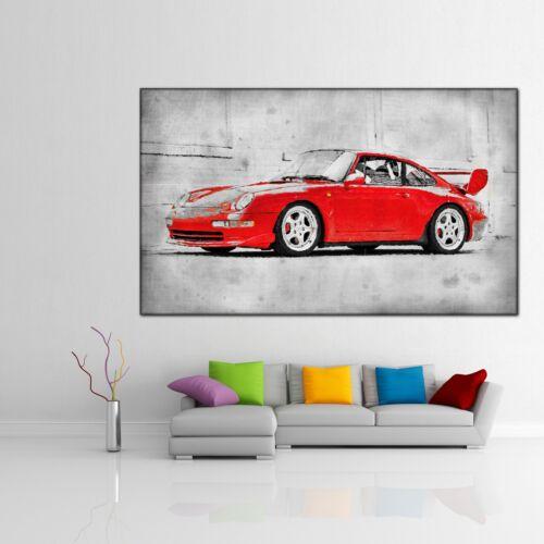 LEINWAND BILD ER XXL POP ART PORSCHE 911 RS CARRERA BUNT ABSTRAKT WAND POSTER