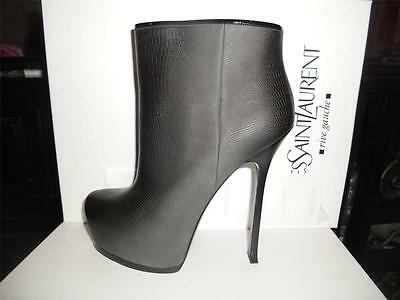 YSL Yves Saint Laurent Tribtoo 105 Degrade Platform Ankle Booties Boots $995