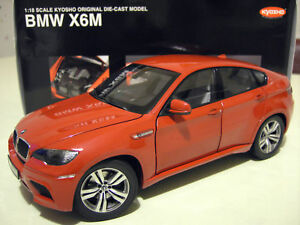 bmw x6 m x6m 4x4 rouge red au 1 18 kyosho 08762r voiture miniature de collection ebay. Black Bedroom Furniture Sets. Home Design Ideas