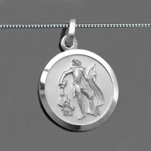 Heiliger Florian Anhänger Gott schütze Dich Feuerwehr männer Kette Silber 925