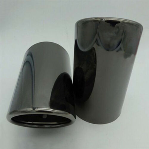 2Pcs Black Exhaust Muffler Tail Pipe Tip Tailpipe for Audi A1 A3 A4 Q5 2012-2018