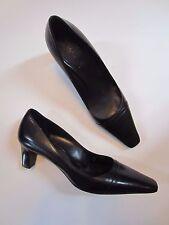 NEW Womens Bally Black Leather Heels Shoes Size 10 US & 40.5 EU NWOB