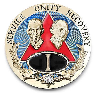Bill /& Bob SLATE  AA Anniversary Recovery Coin//Medallion Yrs 1-50