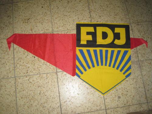 FDJ Aufnäher Junger Pionier FDJ Halstuch  Fahnen Ostalgie Mottoparty  DDR Deko