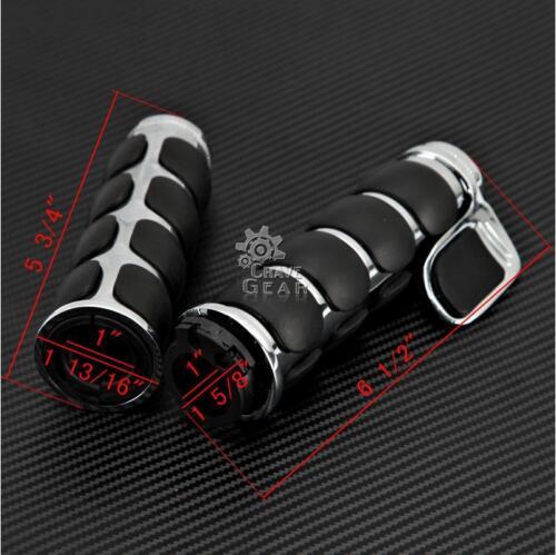 "1/"" Handlebar Hand Grips Throttle Boss for Suzuki Intruder Volusia 800 VL800"