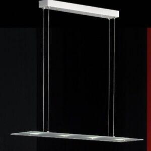 LED-Esszimmer-Lampe-Haengelampe-Esstich-Deckenlampe-Glas-Pendel-Lampe-Eckig