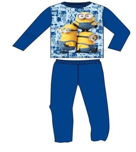 BNWT OFFICIAL MINIONS BOYS GIRLS LONG SLEEVE PYJAMAS PJS AGES 2 TO 8 YEARS