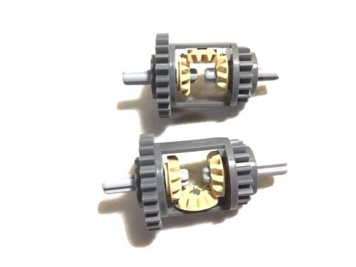2x New LEGO Technic Gear Differential 24-16 Teeth Dark Bluish Grey 6573 NXT EV3