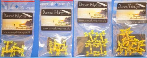 Diamond Fish Eyes 4mm 5mm 7mm 12mm easyshrimpeyes.dk SuperFluorescent YELLOW