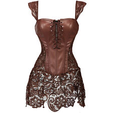 Steampunk Clothing Corset Top Bustier Overbust Gothic Lingerie Basque Gift Dress